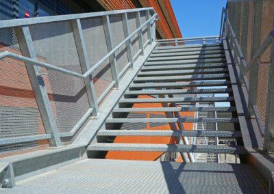 Galvanized stairway