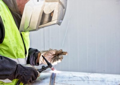 Gas tig welding