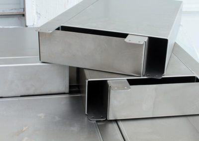 Product from metal scheet bending